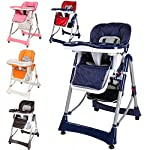 TecTake baby high chair, infant high chair, adjustable height, various colours