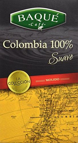Cafés Baqué Café Molido La Colección Colombia 100% - 250 gr - [Pack de 4]