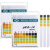 Universale Strisce di pH di Carta, pH Misura La Gamma Completa 0-14, Presto e Misura del Liquido Precisa pH e Acido Corporeo Livello di pH Alcalino, 2 Scatole, Totalmente 200 Strisce