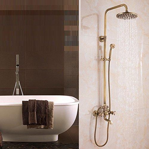 Dual Knobs Mixer Regendusche Set Regen Dusche & Handbrause Sprayer Badezimmer Dusche Wasserhahn Set (Badewanne Dusche Wasserhahn Sprayer)