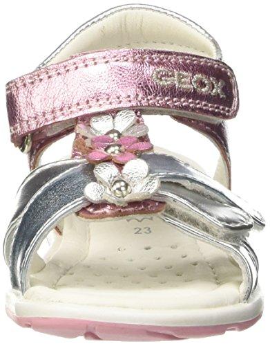 Geox B Verred B, Walking Sandals bébé mixte bébé Rosa (Pink/Silver)