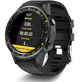 Teepao GPS Reloj Inteligente Deportivo con Doble Cámara Altímetro, Apoyo 2G SIM Tarjeta Corazón Tasa