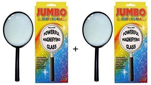 Jumbo Lupe 9cm–2Stück Originalverpackung