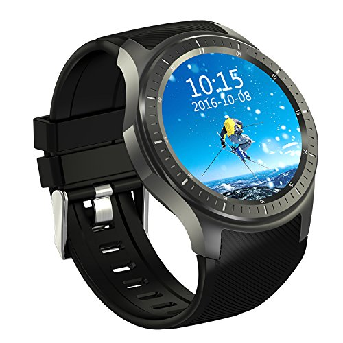Android 5.1 Fashion Smart Watch Quad Core 512MB+8GB Support GPS WIFI Bluetooth Unterstützen für Smartphones Android OS IOS Silikon Armband