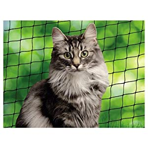 Nobby Cat Safety Net, 4 x 3 m, Black
