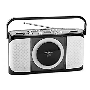 oneconcept boomtown boy kofferradio cd radio boombox. Black Bedroom Furniture Sets. Home Design Ideas