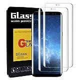 LeeIU 2 Stück Panzerglas Schutzfolie für Samsung Galaxy S8, Panzerglas Displayschutzfolie Anti-Kratzen Panzerfolie Schutzfolie, Anti-Öl, 9H Echt Glas (Transparent)