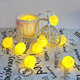 Fashion Holiday Decorative Lighting 10Leds Novelty Lemon String Lights Wedding Garden Party Bedroom Warm color Decoration
