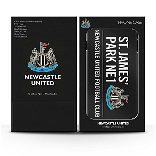 Offiziell Newcastle United FC Hülle / Matte Snap-On Case für Apple iPhone 5C / Pack 6pcs Muster / St James Park Zeichen Kollektion Schwarz/Weiß