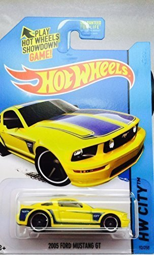 2014 Hot Wheels Hw City 2005 Ford Mustang GT - Yellow by Hot Wheels
