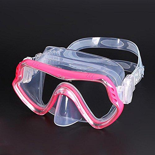 Sunny Honey Schwimmbrille Tauchen Spiegel Erwachsene Schnorcheln Ausrüstung gehärtetes Glas ist sicher und geschmacklos (Farbe : Rose rot)