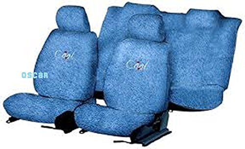OSCAR-Car Seat Cover Towel Type (Sky Blue) for Maruti Suzuki Alto 800