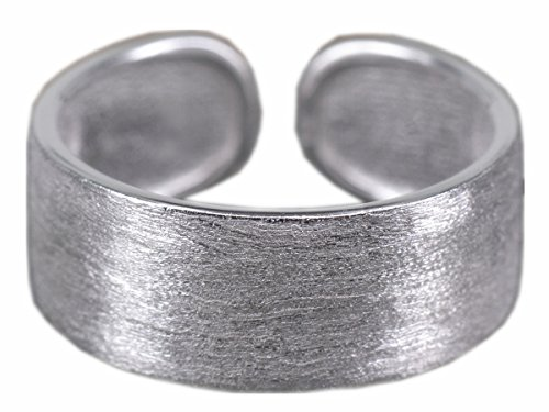 Nico In Silver Matte Finish Plain Band Ring Ring Ring Adjustable 925 Silver Women's Earrings Women's Jewelry SRI194 qaIoBsAI
