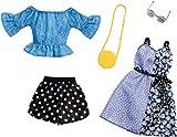 Mattel- Fashionistas-Pack de 2 Modas, Ropa Barbie Estampado Lunares, Accesorios muñecas FXJ68