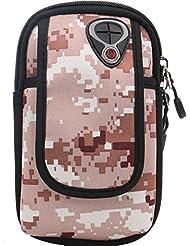 Bazaar Sports de plein air sac de bras poignet sac de bras forfait de téléphone mobile impression de camouflage antichoc