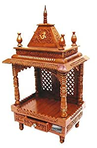 Buy Wooden Temple / Home Mandir / Pooja Ghar Mandir 60 for Home ...
