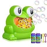SayHia Automatic Frog Bubble Blower Machine Electric Frog Blowing Bubble Machine for Kids