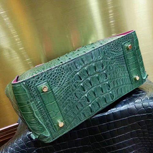 CROCUST Lusso Coccodrillo Donne di Pelle Vera di Coccodrillo Swagger Borsa Classica Borsa Verde