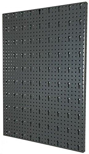 Kreher Lochblech, Lochplatte BxH ca. 40 x 58 cm. Aus Metall, einbrennlackiert in Grau. Schlüssel Lochung 30 mm. Mit Aufhängung (hinten).