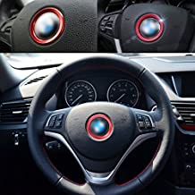 beler Rojo Car Volante Center Decoration Anillo Trim Cover
