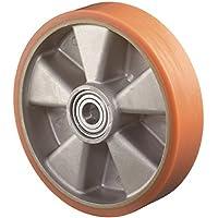 Ruota b90.102D.100Mm trgf.200kg l.40mm per mozzi ruota in alluminio.- In ghisa/Pur 95Shore A