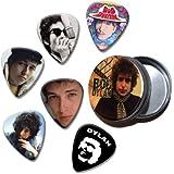Bob Dylan Set of 6 Loose Púa Para Guitarra in Tin ( Collection E )