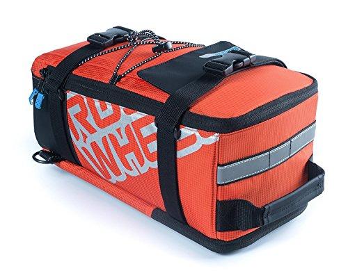 Roswheel Multifunktions-Radfahren Fahrrad Fahrrad-Panniers Rücksitz-Trunk-Tasche Sattel-Beutel Beutel Tragen Gepäck Paket Rack Panniers (kann auch als Umhängetasche verwendet werden), Orange (Brieftaschen Herren Sattel)