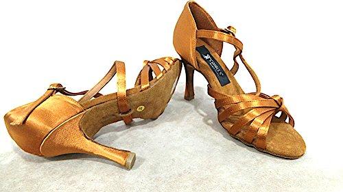 Charles dance shoes Scarpe da Ballo Donna Tacco 90 Raso COD.429 Col. Brown Made in Italy Vedi Foto