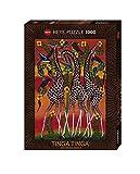 Heye 29426 - Standardpuzzles 1000 Teile Tinga Tinga Giraffes, Mkumba