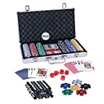 Description: Casinoite provides 300 Pcs Diced Poker Chip & Brick Set With Denomination Toy. It has aluminium case, each chip has 11.5 gram weight with 50 chips each in 6 Colours and 10 bricks, 1 dealer button and 5 Dices. So, Please have a look o...