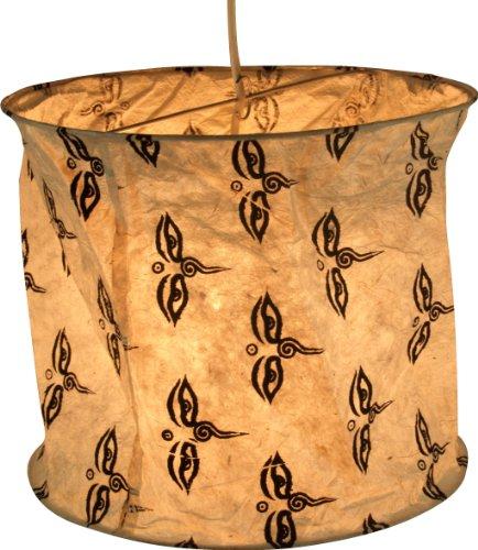 Guru-Shop Annapurna - Pantalla cilíndrica papel lámpara