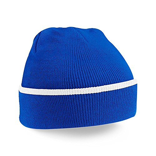 Beechfield - Bonnet - Adulte unisexe Bright Royal/White