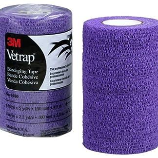 """3M Vetrap Single Roll Bandaging Tape, 4"""" by 5 yd, Purple 9"""