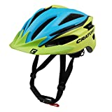 Fahrradhelm Cratoni Pacer, blue-lime matt - Visier lime, Gr. L-XL (58-62 cm)