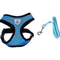 Sannysis arnes perro pequeña, mascotas perros accesorios arnes deportiva (azul, ...