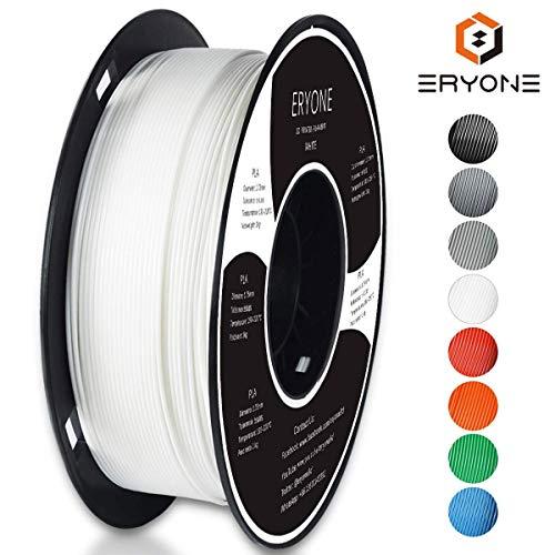 Filament PLA 1.75mm, Eryone PLA Filament 1.75mm, 3D Drucken Filament PLA for 3D Drucker, 1kg 1 Spool, Wei?