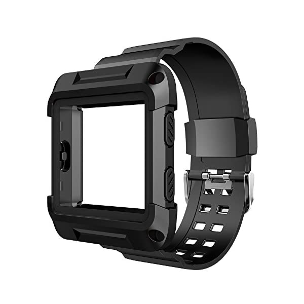 Fitbit Blaze Bands Simpeak Rugged Protective Frame Case With Resilient Strap Replacement Bands For Fitbit Blaze Smart Fitness Watch