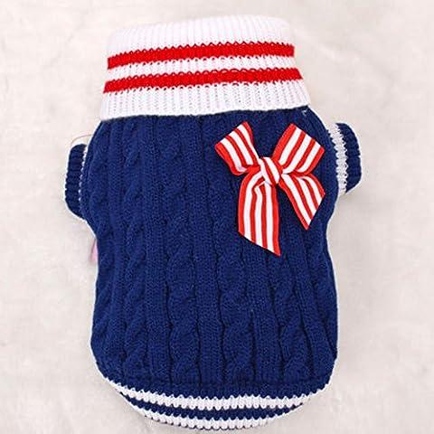 Animales - ropa suéter Pet Costume ropa para perros Armada Cachorro, azul