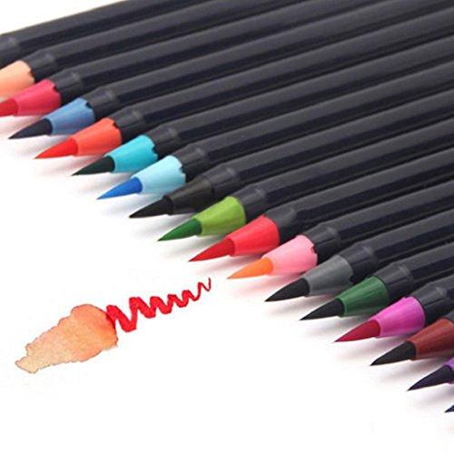 20FARBEN Zeichnen Malen Stift-Set mit weichem Wasser Bürste für Sketch Graffiti Einheitsgröße siehe abbildung