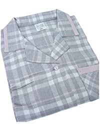 766a01fd8c Waites Ladies Cotton Long Pyjama Set in Grey Pink Check