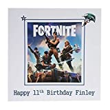 Personalised Fortnite Happy Birthday Greeting Card Age Name