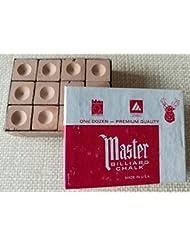 Master piscina mesa de billar snooker Cue Chalk oro Master Chalk 12cubos