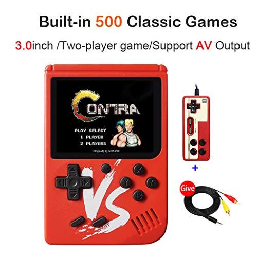 certylu Game Player, Retro Mini Handheld Game Console 8 Bit 3 0 Pollici  Portable Built-in 500 Giochi Console per Videogiochi