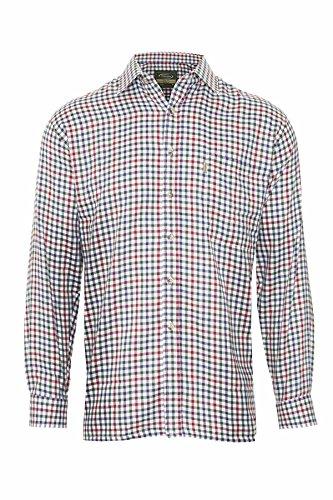 Chemise à carreaux pour homme Champion Country Pêche chasse de poche poitrine Bordeaux
