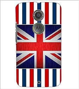 PrintDhaba UK Flag D-5729 Back Case Cover for MOTOROLA MOTO X2 (Multi-Coloured)