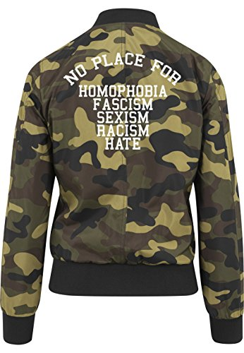 No Place For Shit Bomberjacke Girls Camouflage Certified Freak-S