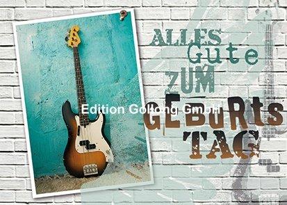 Postkarte-Geburtstag-Gitarren-Effektlack