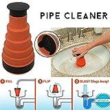 Gorgebuy Limpiador de tuberías - Artefacto de Dragado de bañera de Limpieza de...