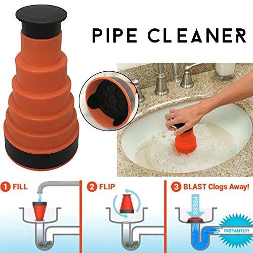 Air Druck Ablauf Pumpe Gewicht Reinigung Tool, WC Kolben Küche Waschbecken Kanalisation Baggers Tool, ideal für die meisten Kanalisation Rohr (Kolben Wc)