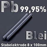 Plomo Pb 99,9 redondo Varilla ánodo 100 x ⌀ 8 mm galvanoplástica electrólisis Element pura metal